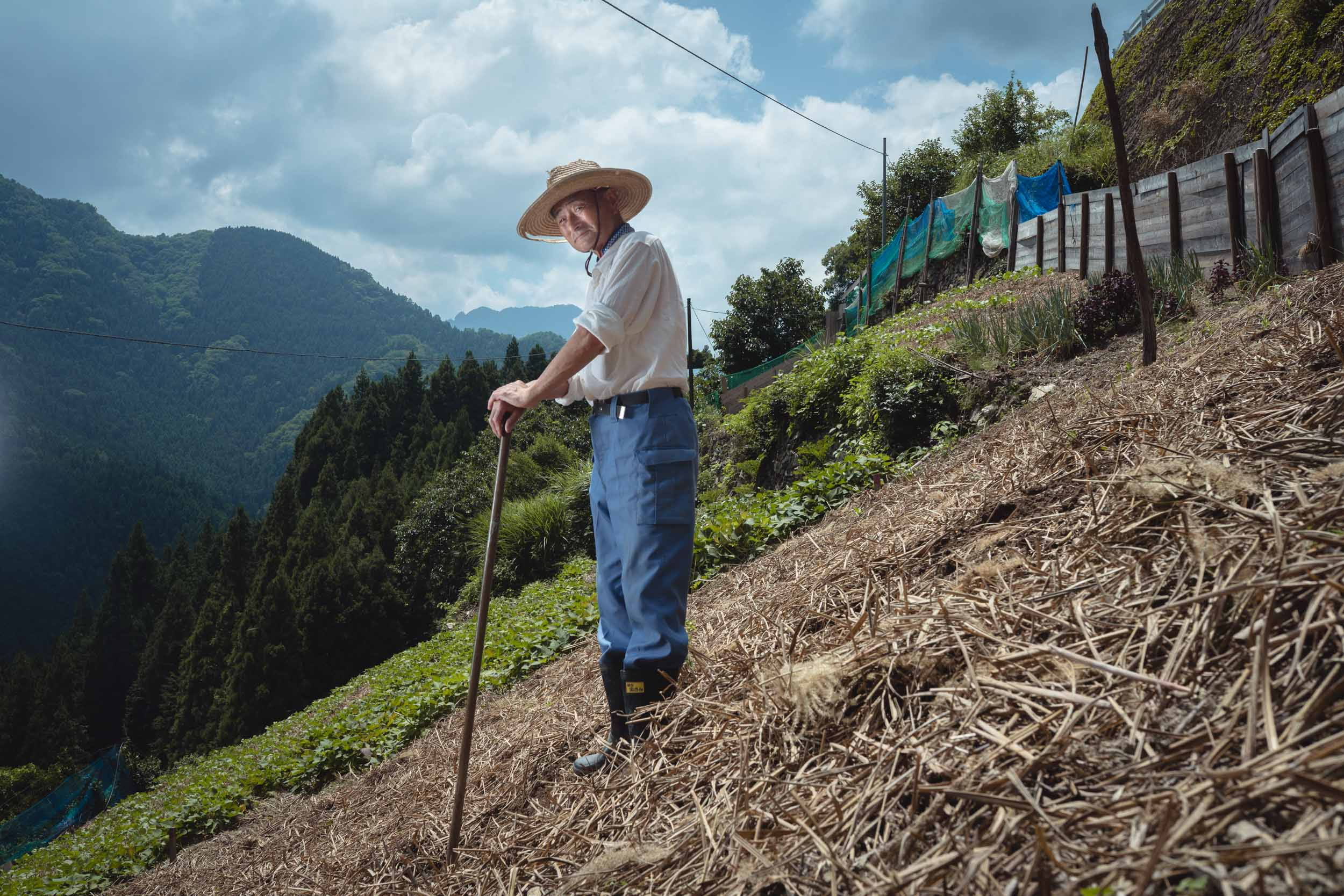Tokyo Photographer Irwin Wong  - Extreme Incline Farmer from Shikoku